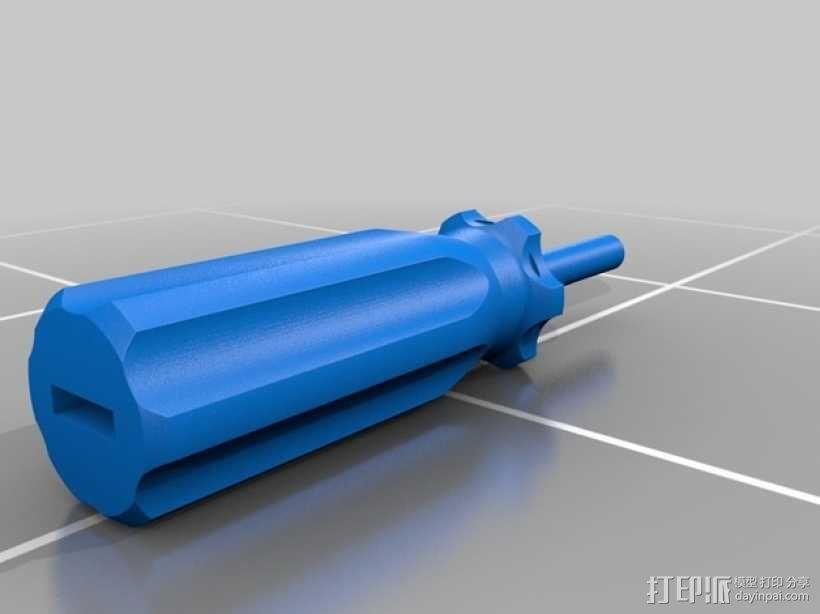 有磁性的螺丝起子 3D模型  图2