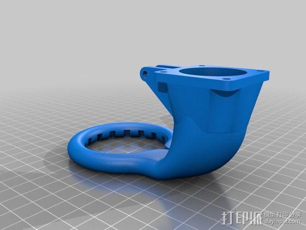Prusa Mendel i3 3D打印机通风导管  3D模型  图2