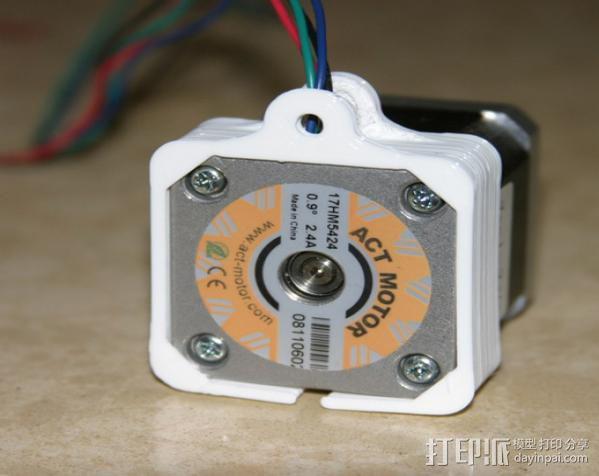 Nema 17步进电机连接保护套 3D模型  图3