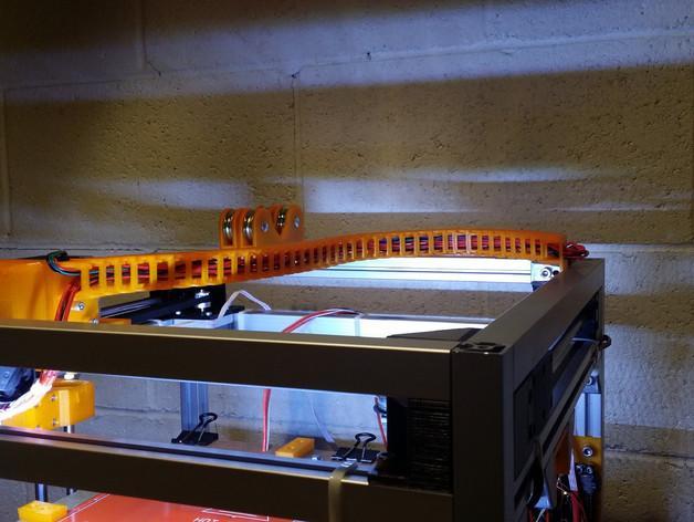 3uP 3D打印机电缆保护链 3D模型  图2