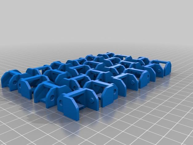 3uP 3D打印机电缆保护链 3D模型  图9