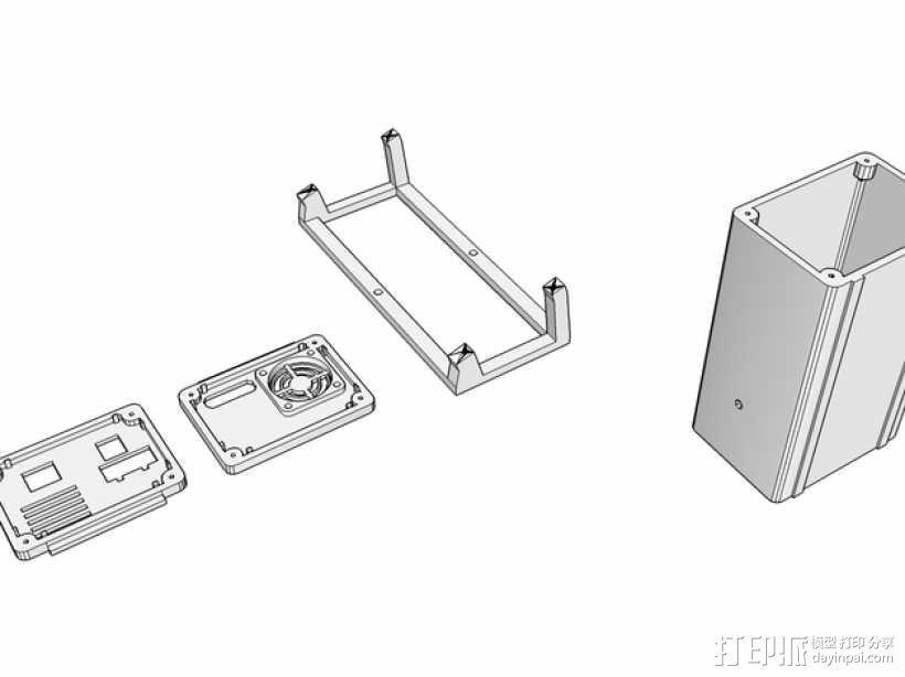 Ramps 1.4 打印机机箱 3D模型  图1