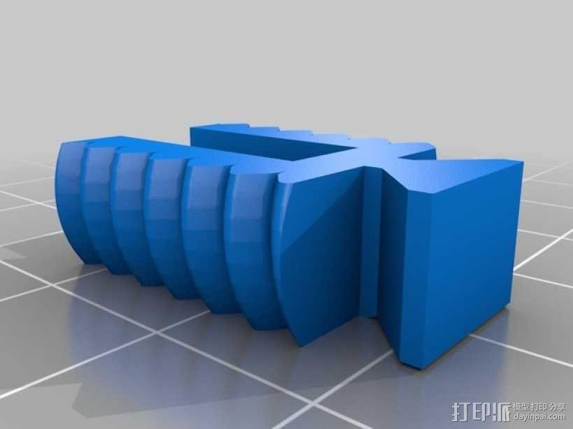 U2RS电线电缆夹 3D模型  图2