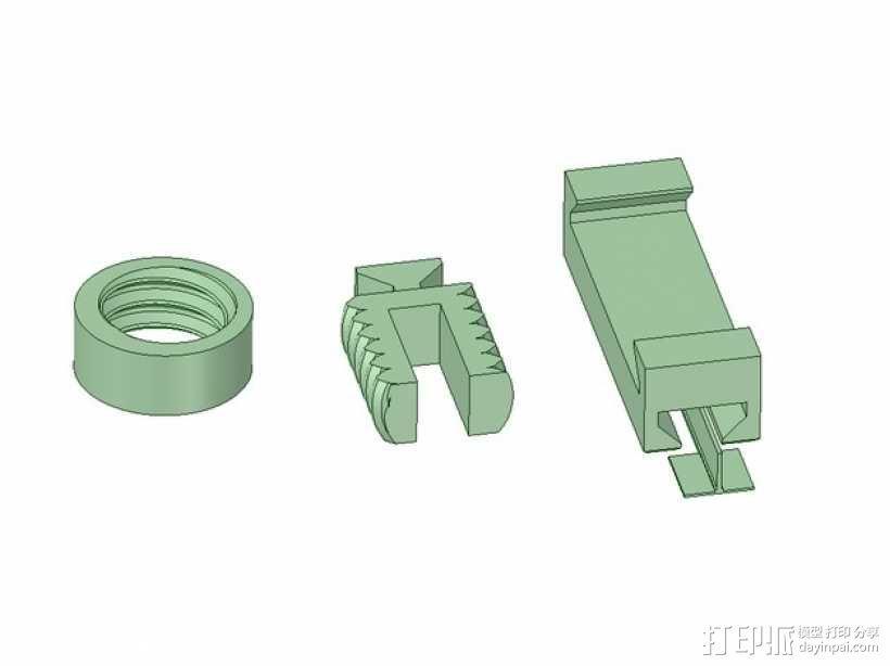 U2RS电线电缆夹 3D模型  图5
