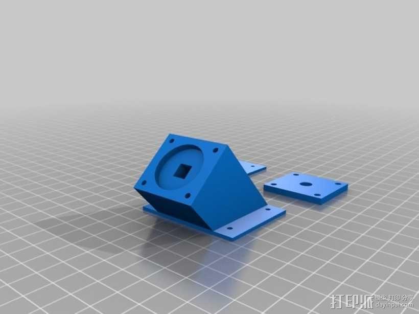 Rigidbot线轴架 3D模型  图3