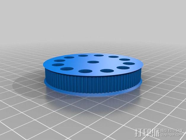 皮带驱动挤出机 3D模型  图6