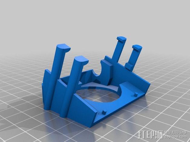 三纬国际Da Vinci 1.0 3D打印机风扇护罩 3D模型  图1