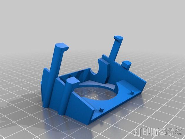 三纬国际Da Vinci 1.0 3D打印机风扇护罩 3D模型  图2