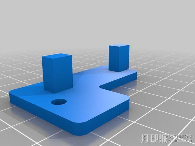 Prusa i2 3D打印机打印床自动校准装置 3D模型  图1