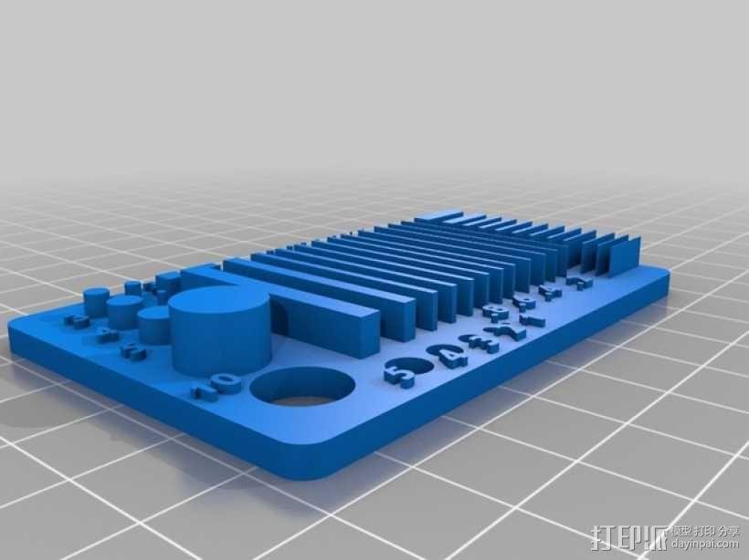 分辨率测试样品 3D模型  图2