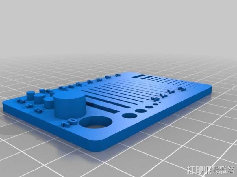 分辨率测试样品 3D模型  图3