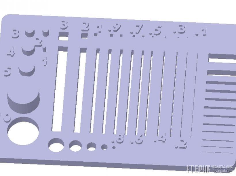 分辨率测试样品 3D模型  图5