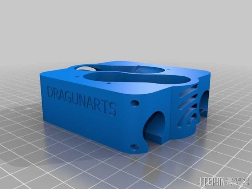 E3D v6双热端固定架 3D模型  图3