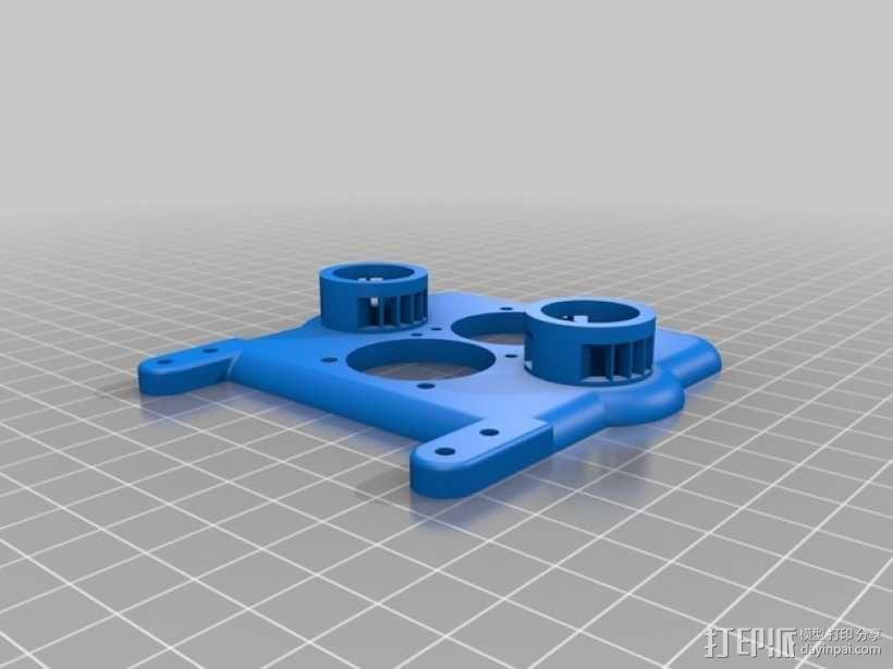 E3D v6双热端固定架 3D模型  图4