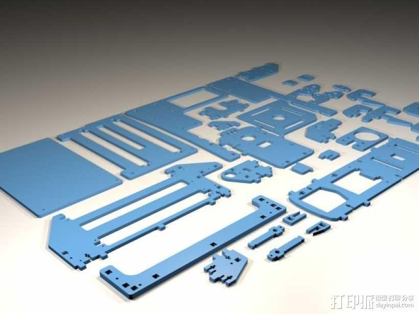 Printrbot 3D打印机零部件 3D模型  图1
