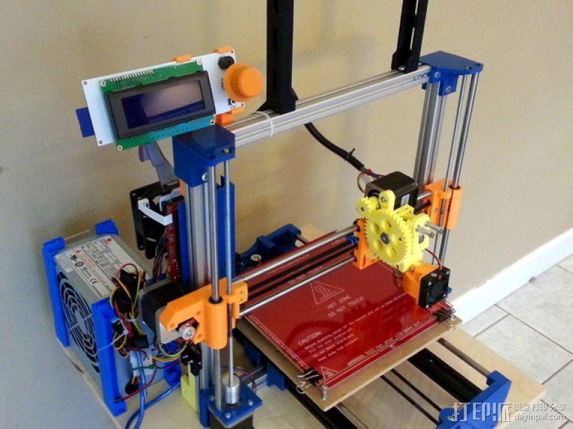 3D打印机Y轴固定架 3D模型  图1