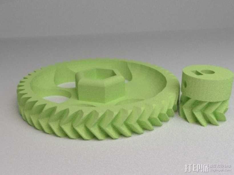 挤出机齿轮 3D模型  图1