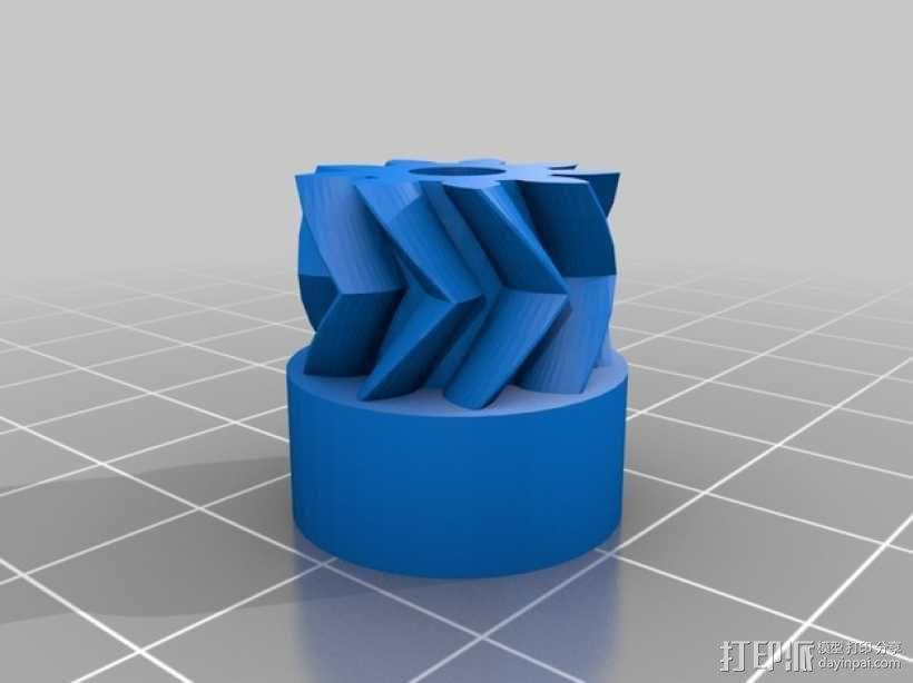 挤出机齿轮 3D模型  图3