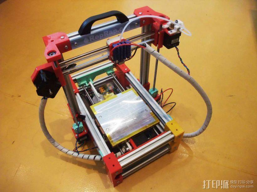 可折叠Reprap 3D打印机 3D模型  图3