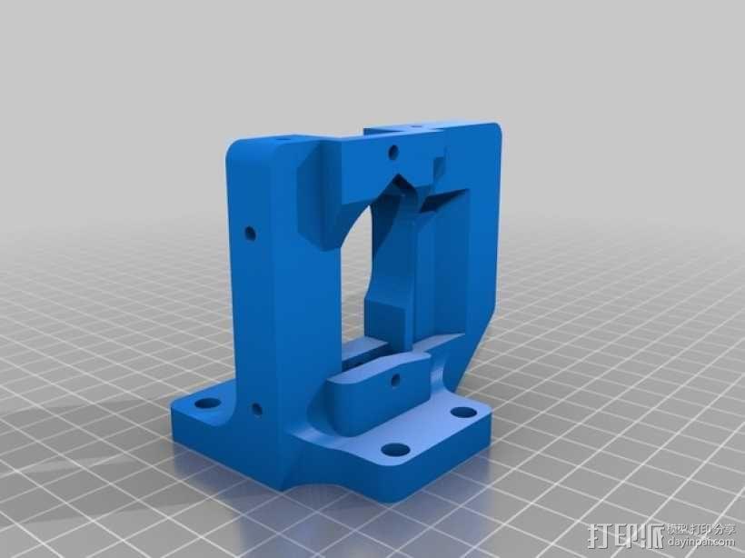 Prusa i3 3D打印机挤出机配适器 3D模型  图2