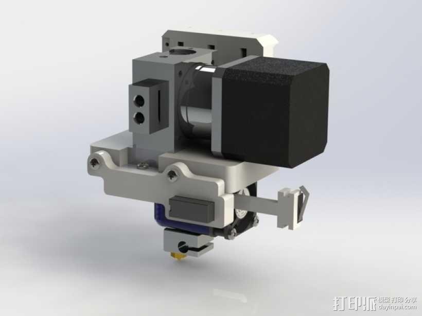 Prusa i3 3D打印机挤出机配适器 3D模型  图1