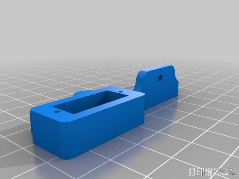 Prusa i3 3D打印机挤出机配适器 3D模型  图6