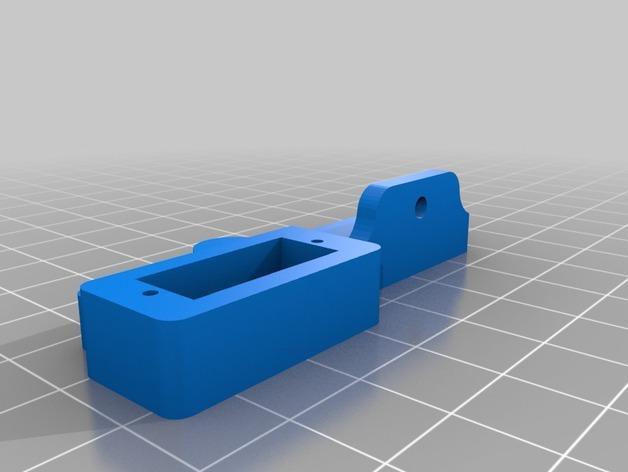 Prusa i3 3D打印机挤出机配适器 3D模型  图5