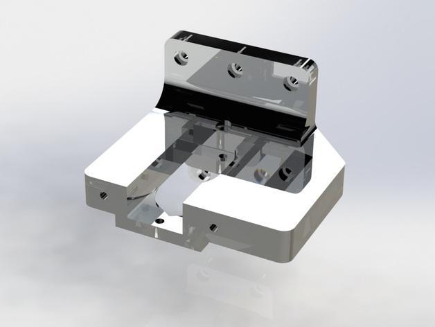 Prusa i3 3D打印机挤出机配适器 3D模型  图3