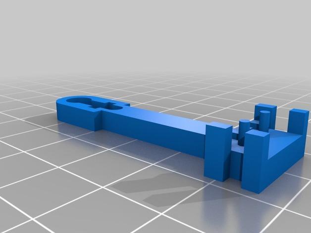 Prusa i3 3D打印机挤出机配适器 3D模型  图9