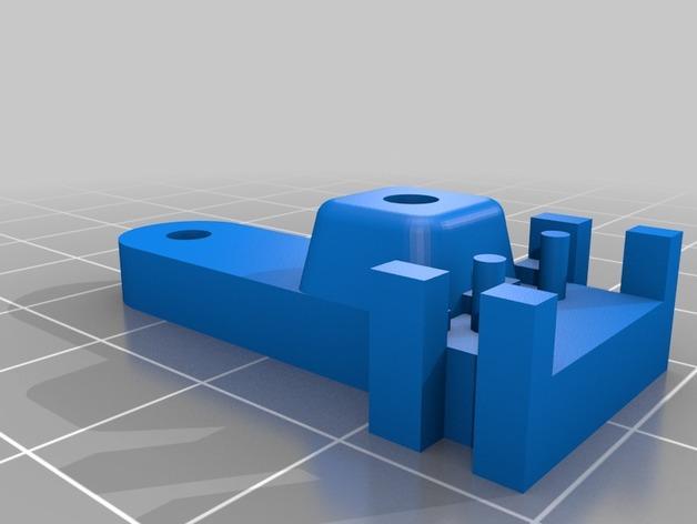 Prusa i3 3D打印机挤出机配适器 3D模型  图14