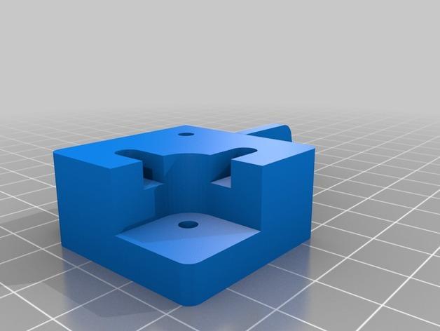 Prusa i3 3D打印机挤出机配适器 3D模型  图13