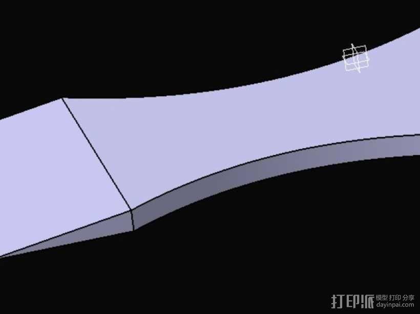 刮刀 3D模型  图1
