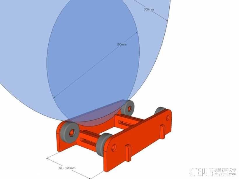 线轴置放架 3D模型  图1