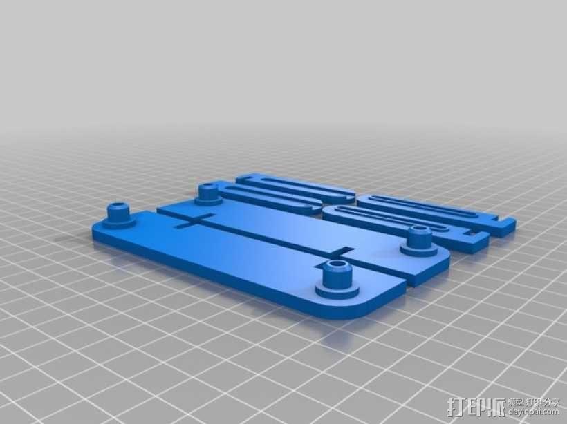 线轴置放架 3D模型  图2