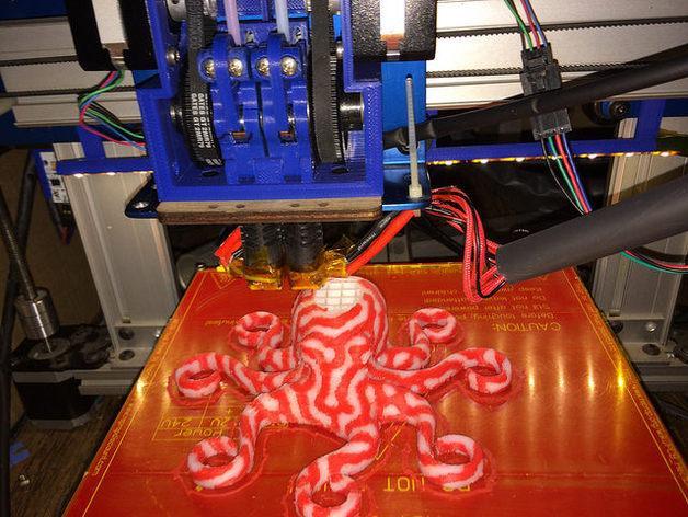 皮带驱动双挤出机 3D模型  图1