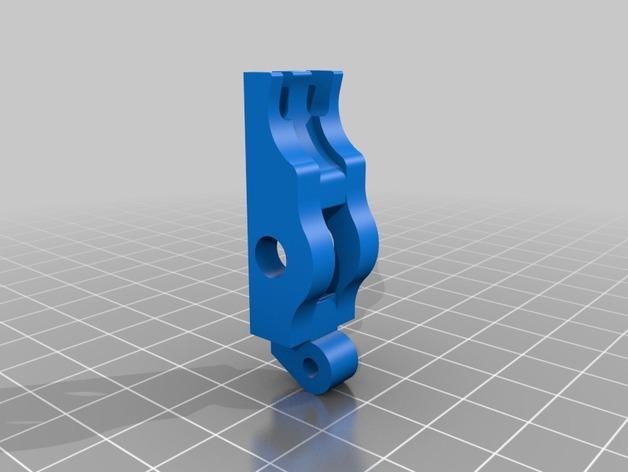 皮带驱动双挤出机 3D模型  图2