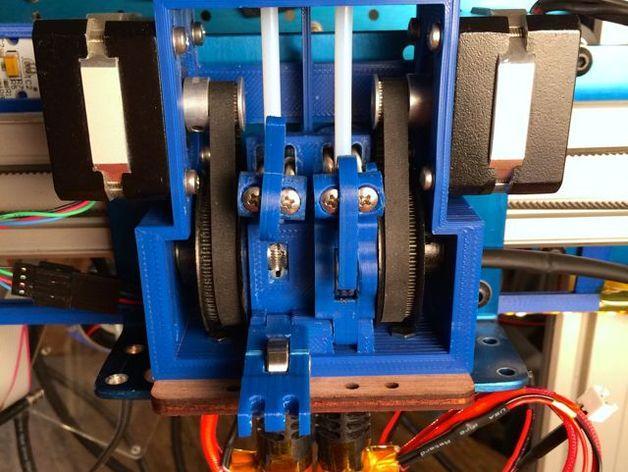 皮带驱动双挤出机 3D模型  图8