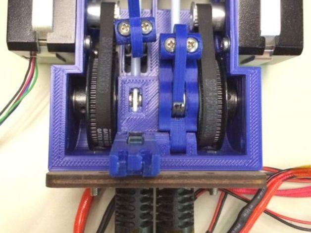 皮带驱动双挤出机 3D模型  图7