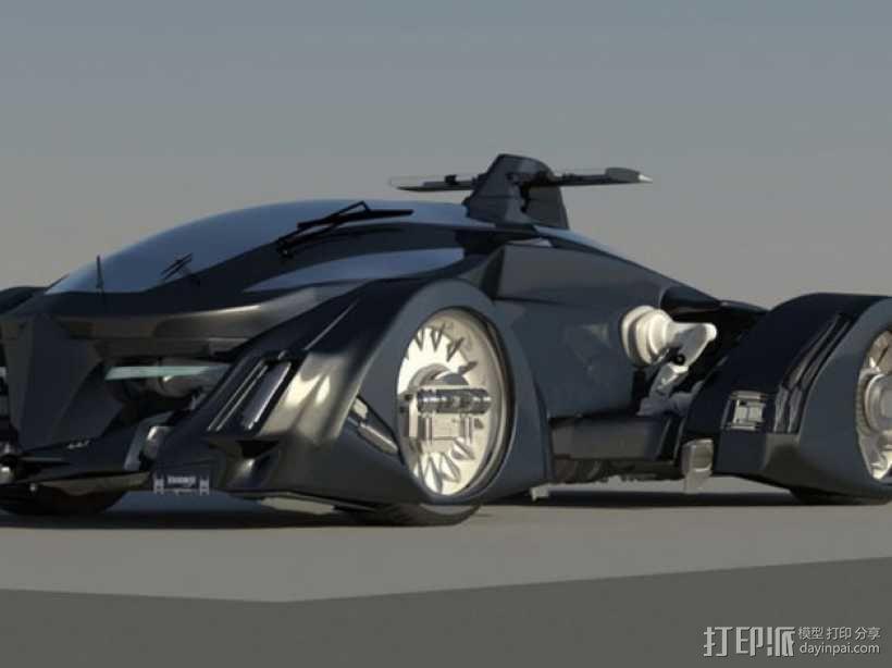 未来的赛车 3D模型  图1