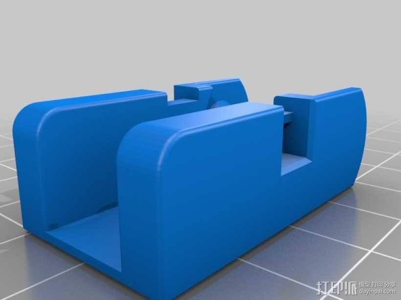 Da Vinci 1.0 3D打印机电缆坦克链 3D模型  图6