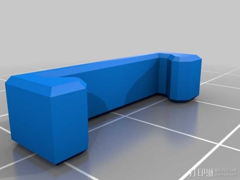 Da Vinci 1.0 3D打印机电缆坦克链 3D模型  图7