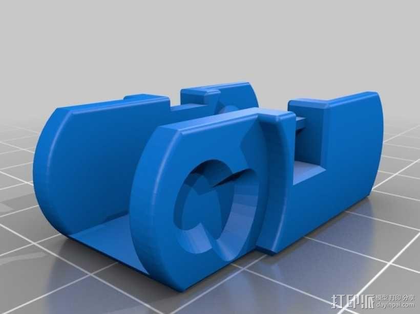Da Vinci 1.0 3D打印机电缆坦克链 3D模型  图8