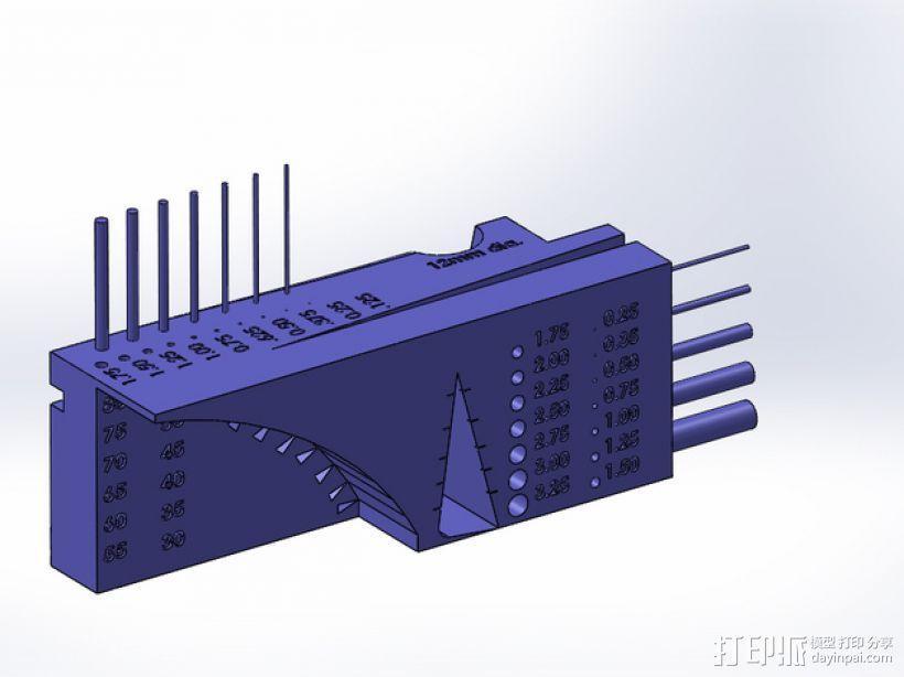 公制校准器 3D模型  图1