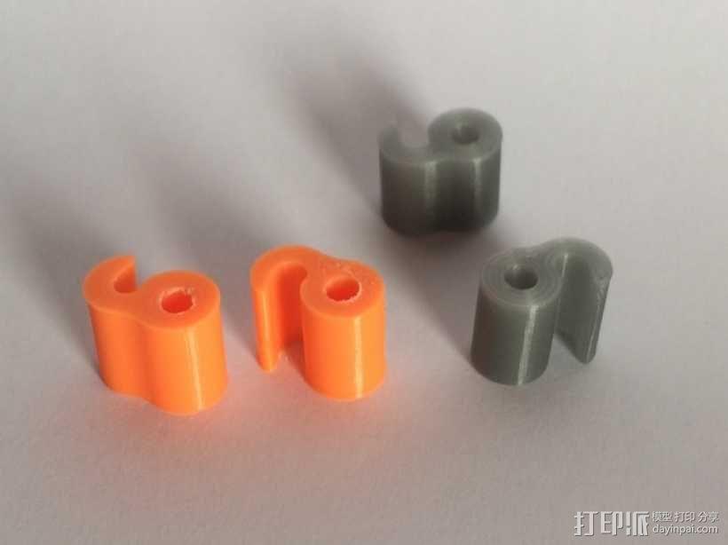 3毫米线材夹 3D模型  图2