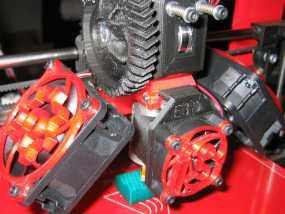 i3 E3D 挤出机 3D模型
