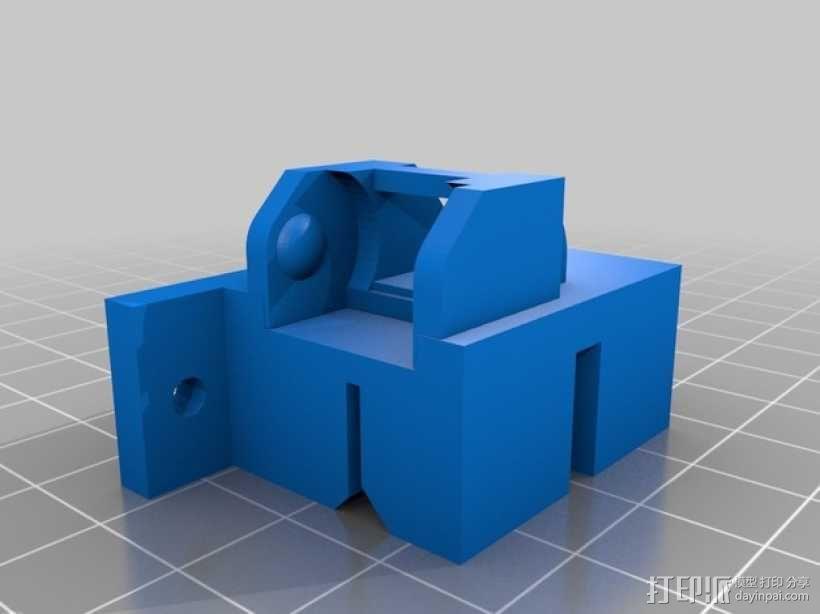 i3电缆坦克链固定架 3D模型  图2