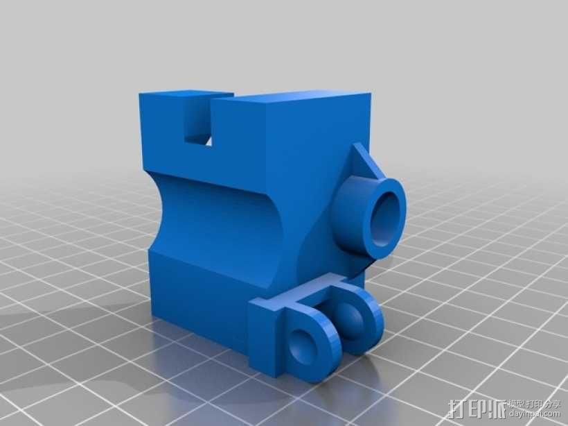 i3电缆坦克链固定架 3D模型  图3