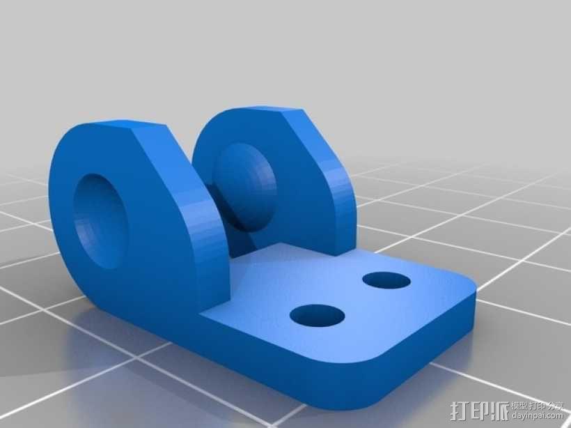i3电缆坦克链固定架 3D模型  图7
