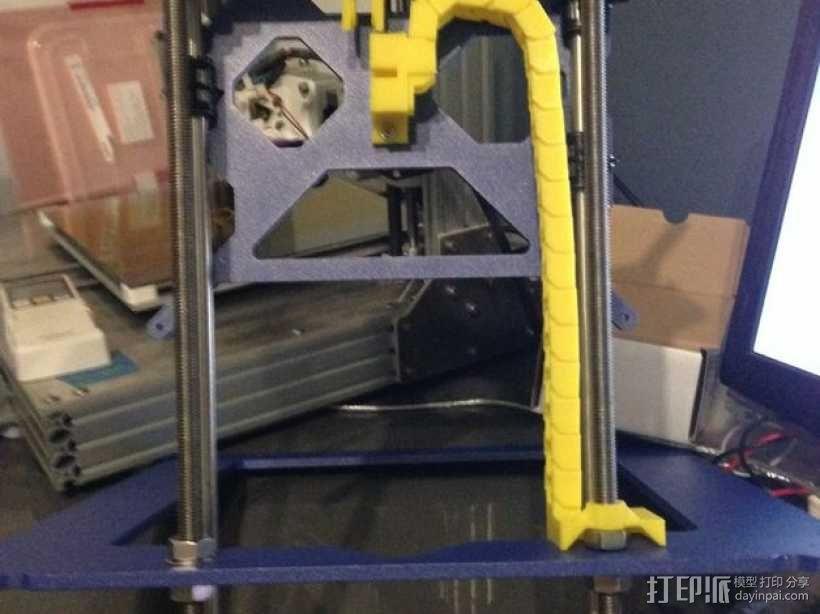 i3电缆坦克链固定架 3D模型  图9