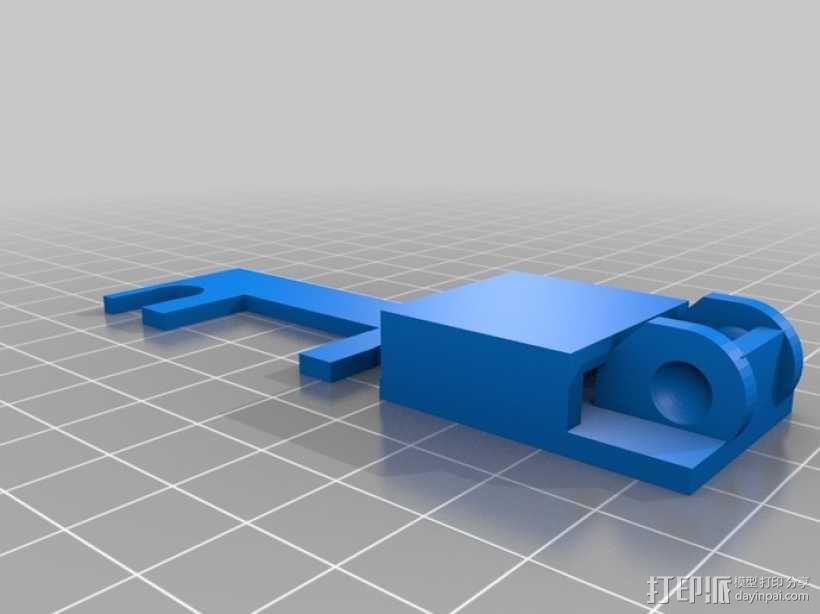 i3电缆坦克链固定架 3D模型  图13